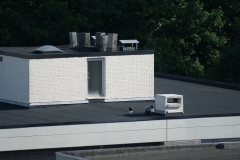afgewerkt plat dak
